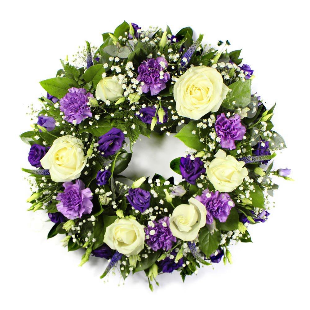 Wreath - Purple and White